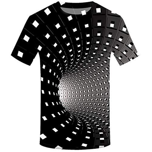 Nerd Band Kostüm - Herren 3D Druck Rundhals Kurzarm Shirt Top Bluse