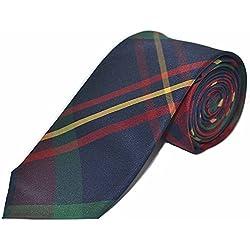 Corbata Tradicional con Patrón Escocés Rojo / Azul