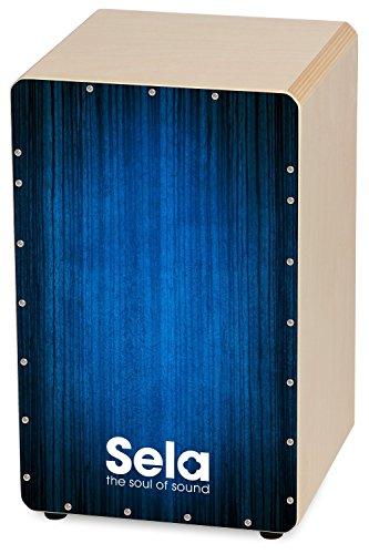 Sela Varios Blue Snare Cajon SE 052 - mit herausnehmbarer Snare, spielfertig aufgebaut