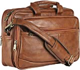 Thames Faux Leather 14 inches Laptop Messenger Bag/Sling Bag/Laptop Briefcase (Tan)