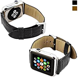 Snugg Strap - Correa de reloj para Apple Watch (42 mm), color negro rayas
