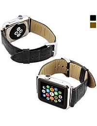 Snugg Strap - Correa de reloj para Apple Watch (42 mm), color negro rayas