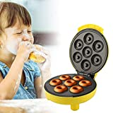 Donut Maker, Multifunktions Donut Maschine aud Titanlegierung und Antihaftbeschichtung, 7 Schimmel für Kuchen,...