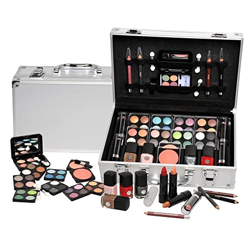 Ardisle 52 Set Vanity Case Beauty Cosmetic Make Up Storage Box Ladies Girls Xmas Gift Box Travel Cosmetic Vanity Case Friend Christmas Present