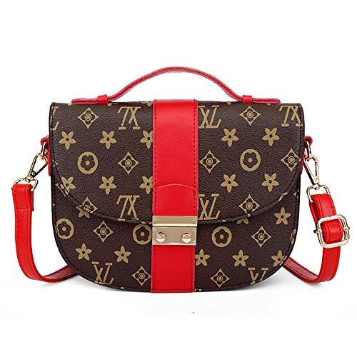 Neue mode handtasche 3D druck schulter umhängetasche wilde abendtasche Mamabeutelmappe dame Cross Body bag (rot, 23 * 18 * 7cm)