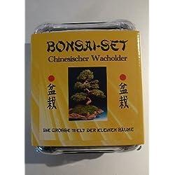 Tropica - Bonsai-Set - Chinesischer Wacholder mit Samen, Keramikschale, Broschüre und Gewächshaus