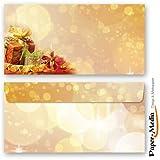 Motiv-Briefumschläge Weihnachten WEIHNACHTSGESCHENKE 10 DIN LANG (110x220 mm) Briefumschläge ohne Fenster, Selbstklebend mit Abziehstreifen