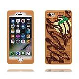 iPhone 6S Coque, iPhone 6s / 6 étui, TPU Durable Cartoon Cute Cartoon Case Shell - [ Cartoon 3D chocolat ], Rides résistant