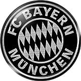 FC Bayern München 3D-Sticker Silver Edition, 6 cm