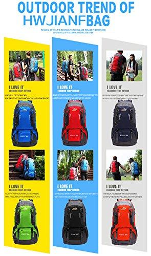 LJ Sport Unisex Outdoor Rucksack Trekkingrucksack Wanderrucksack Wasserdicht Rucksack für Bergsteigen Wandern Radfahren Orange