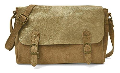 Lae In , Damen Tote-Tasche Denim brut / Camel
