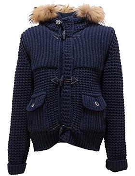 4699T montgomery bimbo NHAV blu misto lana cappotto jackets coats kids