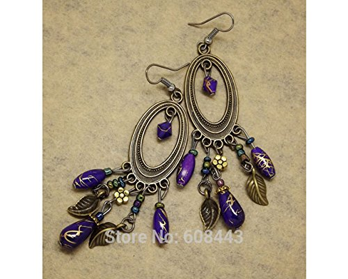 Glitz Fashion Antique Silver Exotic Round Drop & Dangle Earrings for Girls