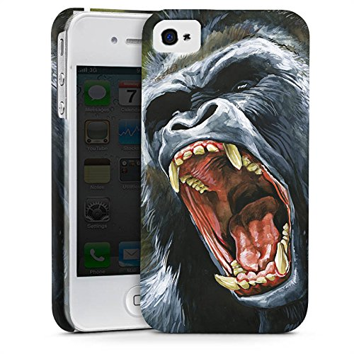 Apple iPhone X Silikon Hülle Case Schutzhülle Gorilla Affe dschungel Premium Case glänzend