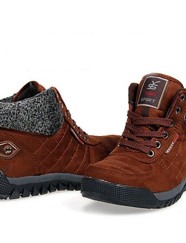ShangYi Mode Frauen Schuhe Damen Stiefel Winter Schnee Stiefel / Runder Leinwand Outdoor Plattform Lace-up Schwarz / Braun / Fuchsia Snow Boots Braun