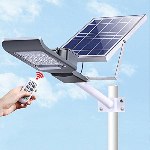 Solar Street Light Leuchte abgeschrägt Outdoor Wireless Bewegungsmelder Detektor Lampe Fernbedienung Super Bright Outdoor Solar Powered Wand LED, Wasserdicht, mit Montage Pole Flood Aluminium doppelt chipsmall Flutlicht, 20wwithpole (Solar-pole-lampen)
