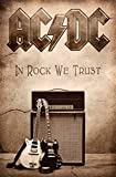 In Rock We Trust Textil Poster