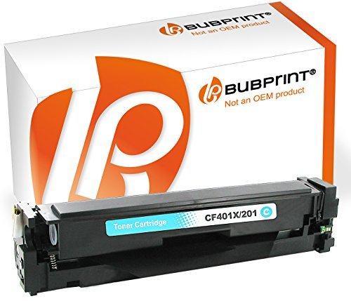 Preisvergleich Produktbild Bubprint Toner cyan / blau kompatibel für HP CF401-X / 201X für Color LaserJet Pro MFP M277dw M252dw M274n M252n M277n