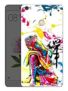 """Humor Gang Buddha In PaintPrinted Designer Mobile Back Cover For """"Xiaomi Redmi Max"""" (3D, Matte Finish, Premium Quality, Protective Snap On Slim Hard Phone Case, Multi Color)"""