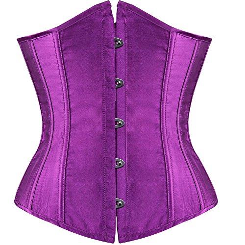 ntage Underbust Taille Corset de Formation Plus Taille M Violett (Billig Sexy Damen Halloween Kostüme)