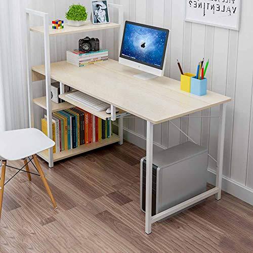YQ WHJB Computertisch Mit Regale,modernen Stil Schreiben Der Studientabelle,Office Multi Functinal Pc-Arbeitsplatz Kompakt Spieltisch-g 120x55x73cm(47x22x29in) -