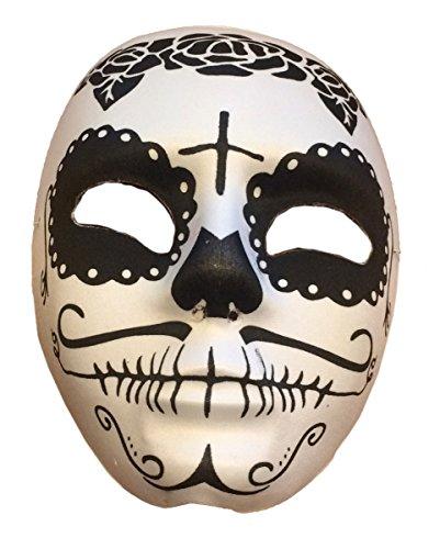 Sugar Skull Halloween Maske Schwarz/Weiß