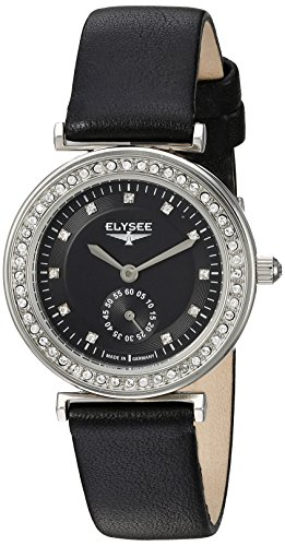 Elysee Womens Analogue Quartz Watch with Leather Calfskin Strap 44006.0
