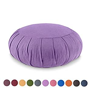 Zafu Meditationskissen 100% Bio-Baumwolle Farbe: LAVENDEL