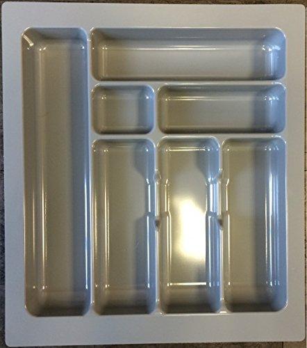 Besteckeinsatz Besteckkasten 50 cm Schubkasten grau