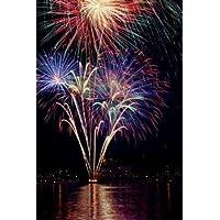 Feeling at home, Stampa artistica x cornice - quadro, fine art print, Poulsbo Fireworks I cm 94x64