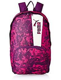 f394a4d63355 Puma 21 Ltrs Dark Purple-Love Potion-Marshmallow-Graphic Laptop Backpack  (7473904