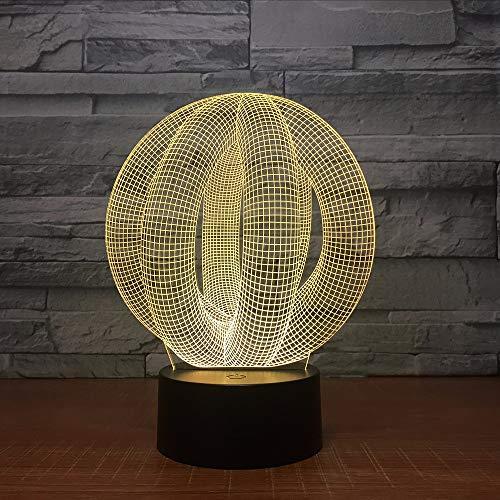 Gwgdjk Abstrakte 3D Led Lampe Licht Usb Nachtlicht Bunte Lava Lampe Für Hochzeit Innovative Büro Party Decor Geschenk Geschenk