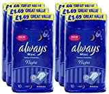 Always Maxi Night Comfort & Protection Sanitary 60 Pads by Always