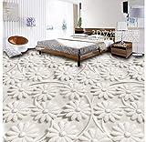 Badezimmer Wasserdichte Tapete Home Decoration 3D Dreidimensionale Blumen Bodenfliesen Pvc Selbstklebende Tapete