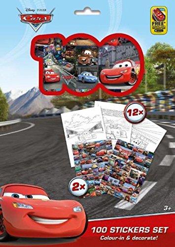 Kit de 100 Stickers et 12 Coloriages Reine des Neiges Frozen ou Cars Disney (Cars)