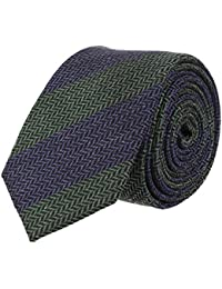 OTTO KERN Schmale Krawatte Clubkrawatte Grün Navy