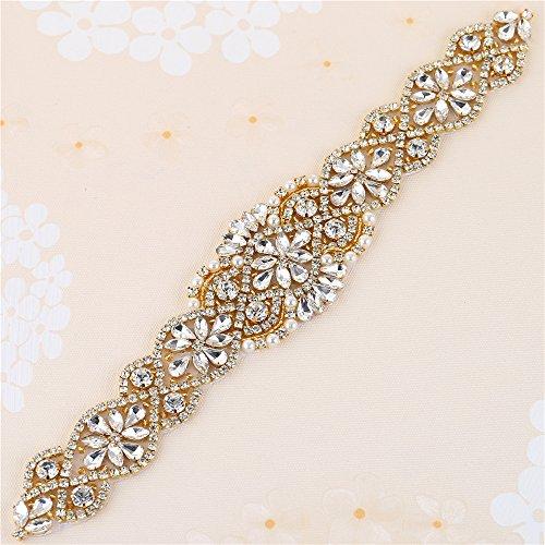 Kleine Strass und Perle Applique für Hochzeitskleid Gürtel und Schärpen Kopfstück Strumpfbänder...