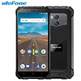 "Telephone Portable Debloqué, Ulefone Armor X Waterproof IP68 Smartphone 5.5"" HD Quad Core Android 8.1 2GB+16GB NFC 5500mAh Wireless Charge"