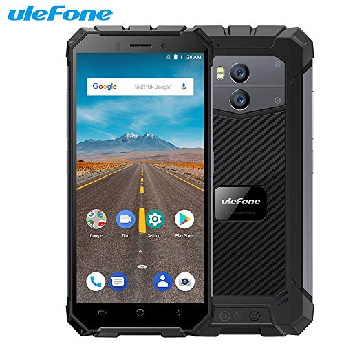 "Handy Ohne Vertrag, Ulefone Armor X Waterproof IP68 Smartphone 5.5"" HD Quad Core Android 8.1 2GB+16GB NFC 5500mAh Wireless Charge"