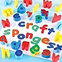 Foam Dabbers & Shapes Lower Case Alphabet Letters a-z - Ideal for Paint Dabbing