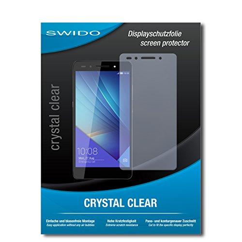 SWIDO Schutzfolie für Huawei Honor 7 Premium [2 Stück] Kristall-Klar, Hoher Härtegrad, Schutz vor Öl, Staub & Kratzer/Glasfolie, Bildschirmschutz, Bildschirmschutzfolie, Panzerglas-Folie
