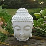 #9: PeepalComm Creative Buddha Head Ceramic Oil Burner, Candle Holder, Aroma Diffuser