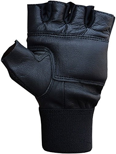 Triumph Power Leather Gym Gloves Black with Nivia Radar Bottle, 600 ml (Colors May Vary) (Medium)  available at amazon for Rs.299