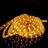 Kefflum LED Lichterschlauch Lichtschlauch Lichterkette Licht Leiste 36LEDs/M Schlauch für Innen und Außen IP65 6M Gelb