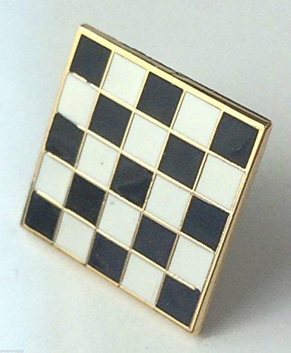 Masonic Mosaic Carpet Gold Plated Enamel Lapel Pin Badge