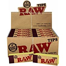 Raw Rolling Paper Tips 10 Booklets(1) by Raw