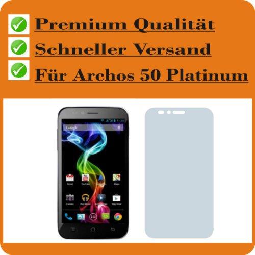 4ProTec 2X Entspiegelnde Bildschirmschutzfolie Displayschutzfolie für Archos 50 Platinum Schutzhülle Bildschirmschutz Bildschirmfolie Folie