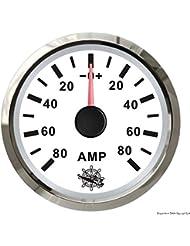 Ampèremètre avec shunt 80 A blanc/polie