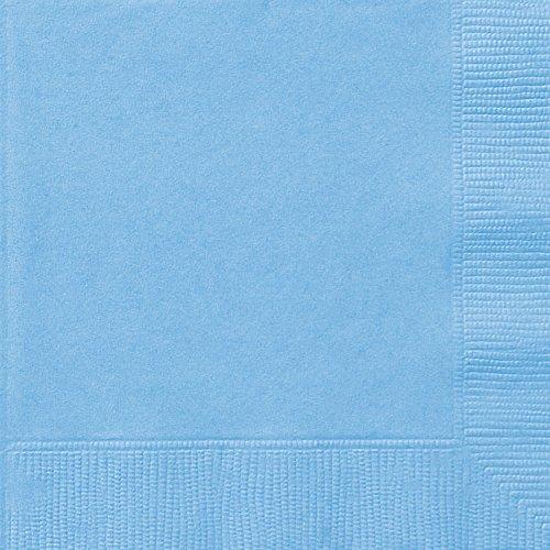 Papierservietten, 16,5 cm, babyblau, 50 Stück