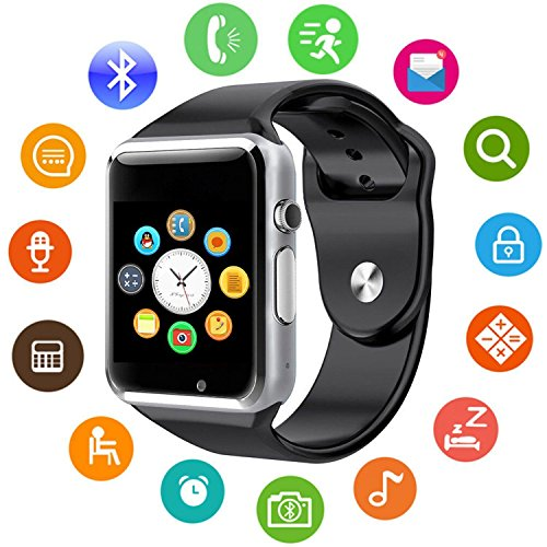 (Model updated 2018) KKCITE 1.54inch SmartWatch Phone with Touch Screen, 2G GSM...